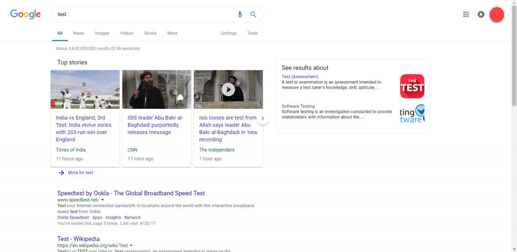Google thử nghiệm thiết kế mới trang kết quả tìm kiếm