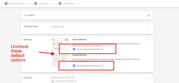 Mạng hiển thị và mạng tìm kiếm Google Ads