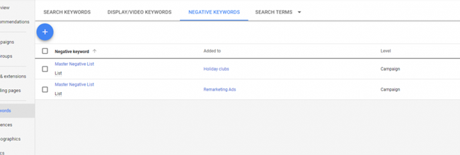 Từ khóa phủ định -Google Ads