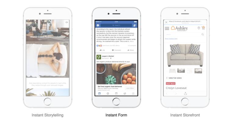 Canvas Ads được nâng cấp và đổi tên thành Instant Experiences Ads