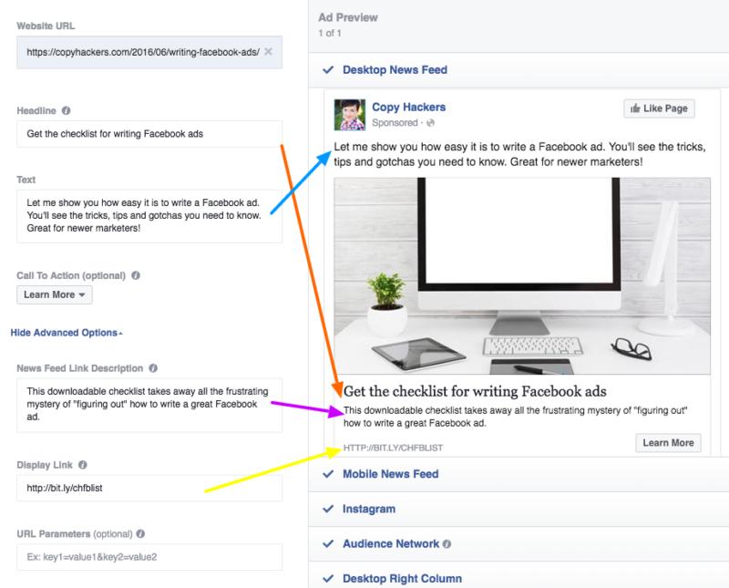 Viết content quảng cáo Facebook. Hình: Copyhacker
